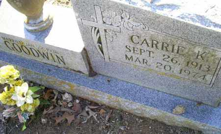 GOODWIN, CARRIE K. - Conway County, Arkansas | CARRIE K. GOODWIN - Arkansas Gravestone Photos