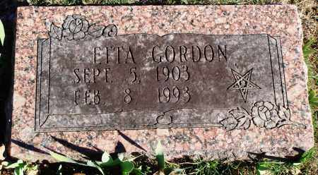 ADAMS GORDON, ETTA - Conway County, Arkansas | ETTA ADAMS GORDON - Arkansas Gravestone Photos