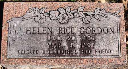 RICE GORDON, HELEN - Conway County, Arkansas | HELEN RICE GORDON - Arkansas Gravestone Photos