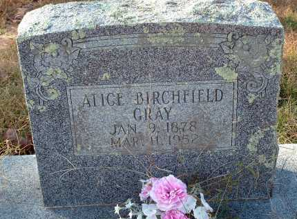 GRAY, ALICE BIRCHFIELD - Conway County, Arkansas | ALICE BIRCHFIELD GRAY - Arkansas Gravestone Photos