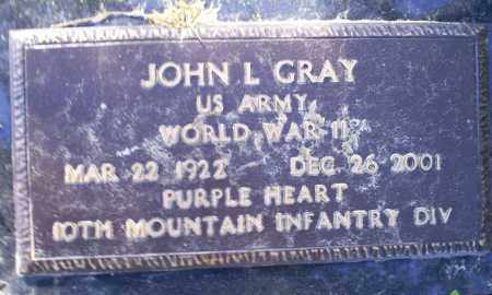 GRAY (VETERAN WWII), JOHN L - Conway County, Arkansas | JOHN L GRAY (VETERAN WWII) - Arkansas Gravestone Photos