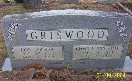 GRISWOOD, JOHN CAPERTON - Conway County, Arkansas | JOHN CAPERTON GRISWOOD - Arkansas Gravestone Photos