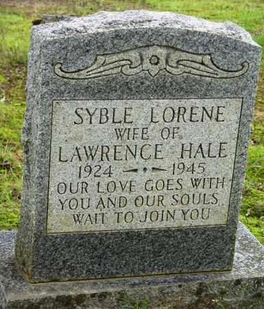 HALE, SYBLE LORENE - Conway County, Arkansas | SYBLE LORENE HALE - Arkansas Gravestone Photos