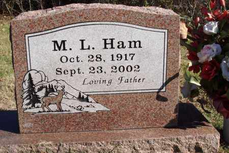HAM, M. L. - Conway County, Arkansas | M. L. HAM - Arkansas Gravestone Photos