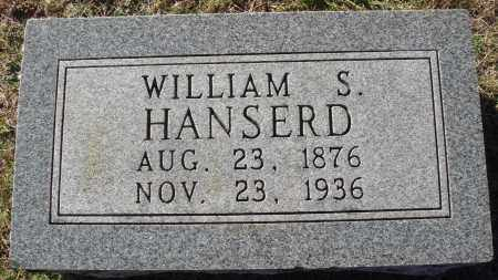 HANSERD, WILLIAM S. - Conway County, Arkansas | WILLIAM S. HANSERD - Arkansas Gravestone Photos