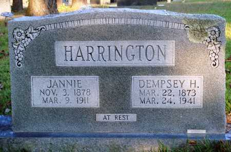 "HARRINGTON, JANE ""JANNIE"" - Conway County, Arkansas 