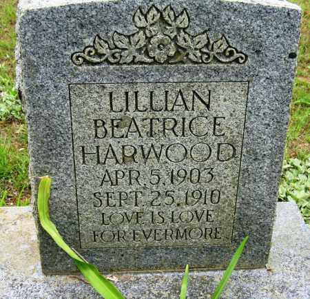 HARWOOD, LILLIAN BEATRICE - Conway County, Arkansas | LILLIAN BEATRICE HARWOOD - Arkansas Gravestone Photos