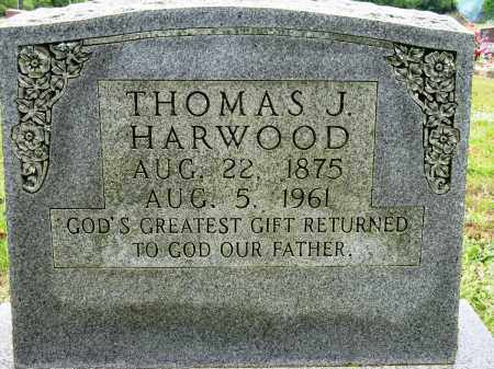 HARWOOD, THOMAS J - Conway County, Arkansas | THOMAS J HARWOOD - Arkansas Gravestone Photos