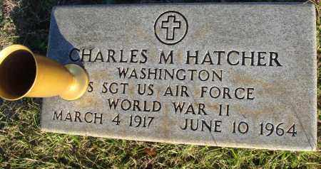 HATCHER (VETERAN WWII), CHARLES M - Conway County, Arkansas | CHARLES M HATCHER (VETERAN WWII) - Arkansas Gravestone Photos