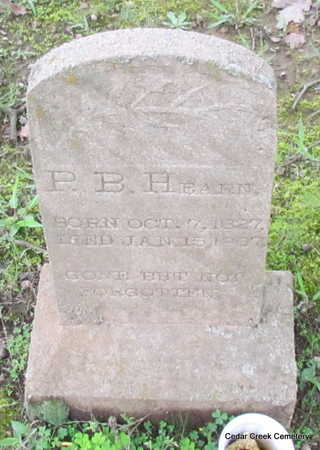 HEARN, P. B. - Conway County, Arkansas | P. B. HEARN - Arkansas Gravestone Photos