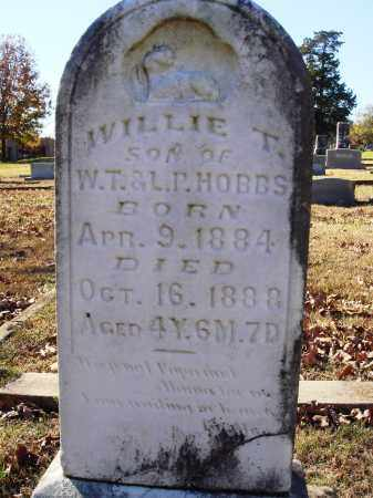 HOBBS, WILLIE T. - Conway County, Arkansas | WILLIE T. HOBBS - Arkansas Gravestone Photos