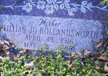 HOLLANDSWORTH, LILLIAN JO - Conway County, Arkansas | LILLIAN JO HOLLANDSWORTH - Arkansas Gravestone Photos