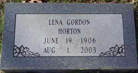 GORDON HORTON, LENA - Conway County, Arkansas | LENA GORDON HORTON - Arkansas Gravestone Photos