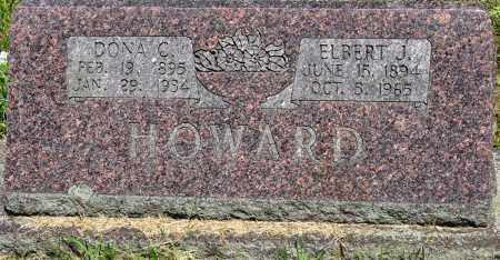 HOWARD, ELBERT J - Conway County, Arkansas | ELBERT J HOWARD - Arkansas Gravestone Photos