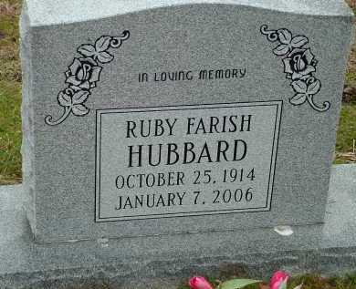 HUBBARD, RUBY - Conway County, Arkansas | RUBY HUBBARD - Arkansas Gravestone Photos