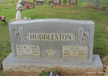 HUDDLESTON, D. J. - Conway County, Arkansas | D. J. HUDDLESTON - Arkansas Gravestone Photos