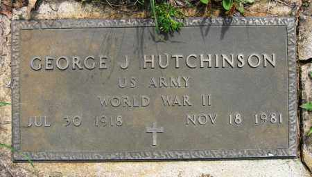 HUTCHINSON (VETERAN WWII), GEORGE J - Conway County, Arkansas | GEORGE J HUTCHINSON (VETERAN WWII) - Arkansas Gravestone Photos