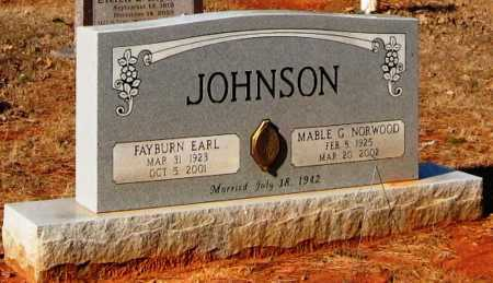 JOHNSON, FAYBURN EARL - Conway County, Arkansas | FAYBURN EARL JOHNSON - Arkansas Gravestone Photos