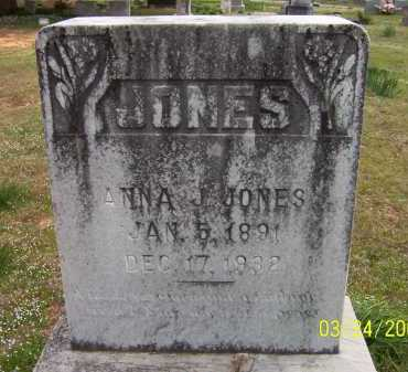 JONES, ANNA JENNIE - Conway County, Arkansas | ANNA JENNIE JONES - Arkansas Gravestone Photos