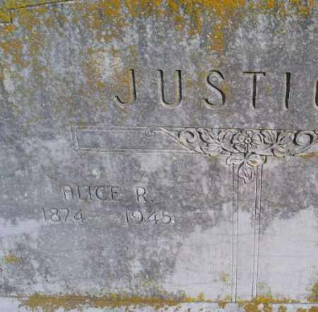 JUSTICE, ALICE R. - Conway County, Arkansas | ALICE R. JUSTICE - Arkansas Gravestone Photos