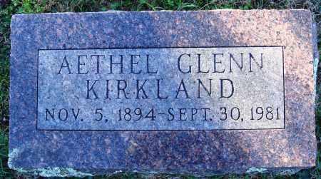 KIRKLAND, AETHEL GLENN - Conway County, Arkansas | AETHEL GLENN KIRKLAND - Arkansas Gravestone Photos