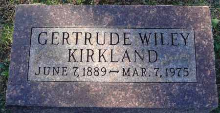 WILEY KIRKLAND, GERTRUDE - Conway County, Arkansas | GERTRUDE WILEY KIRKLAND - Arkansas Gravestone Photos