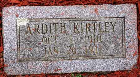 KIRTLEY, ARDITH - Conway County, Arkansas | ARDITH KIRTLEY - Arkansas Gravestone Photos