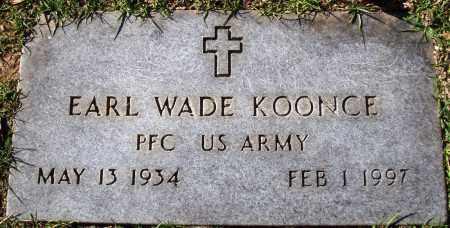 KOONCE  (VETERAN), EARL WADE - Conway County, Arkansas | EARL WADE KOONCE  (VETERAN) - Arkansas Gravestone Photos
