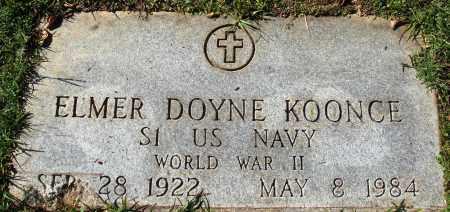 KOONCE  (VETERAN WWII), ELMER DOYNE - Conway County, Arkansas | ELMER DOYNE KOONCE  (VETERAN WWII) - Arkansas Gravestone Photos