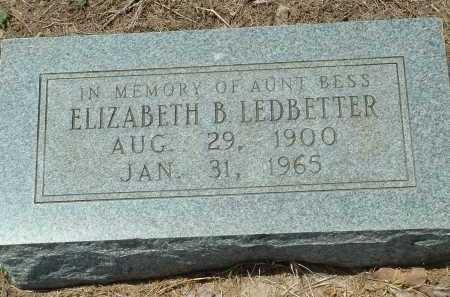 LEDBETTER, ELIZABETH B. - Conway County, Arkansas | ELIZABETH B. LEDBETTER - Arkansas Gravestone Photos