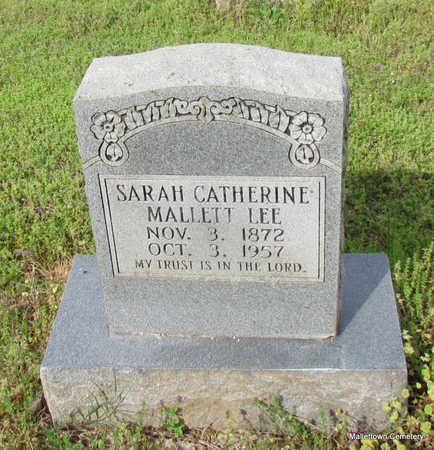 MALLETT LEE, SARAH CATHERINE - Conway County, Arkansas | SARAH CATHERINE MALLETT LEE - Arkansas Gravestone Photos