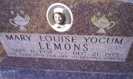 YOCUM LEMONS, MARY LOUISE - Conway County, Arkansas | MARY LOUISE YOCUM LEMONS - Arkansas Gravestone Photos