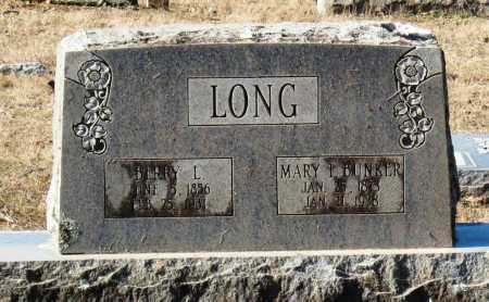 BUNKER LONG, MARY I - Conway County, Arkansas | MARY I BUNKER LONG - Arkansas Gravestone Photos