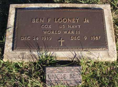 LOONEY JR.  (VETERAN WWII), BEN F - Conway County, Arkansas | BEN F LOONEY JR.  (VETERAN WWII) - Arkansas Gravestone Photos