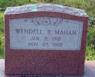 MAHAN, WENDELL B. - Conway County, Arkansas | WENDELL B. MAHAN - Arkansas Gravestone Photos