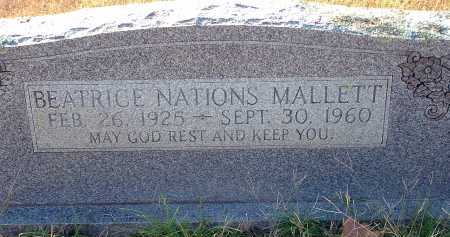 MALLETT, BEATRICE - Conway County, Arkansas | BEATRICE MALLETT - Arkansas Gravestone Photos