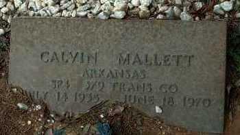 MALLETT  (VETERAN), CALVIN - Conway County, Arkansas | CALVIN MALLETT  (VETERAN) - Arkansas Gravestone Photos