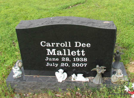 MALLETT, CARROLL DEE - Conway County, Arkansas | CARROLL DEE MALLETT - Arkansas Gravestone Photos