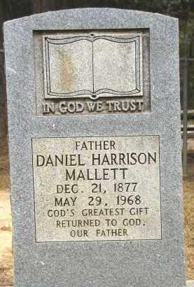 MALLETT, DANIEL HARRISON - Conway County, Arkansas | DANIEL HARRISON MALLETT - Arkansas Gravestone Photos