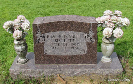 MALLETT, ERA ELIZABETH - Conway County, Arkansas | ERA ELIZABETH MALLETT - Arkansas Gravestone Photos