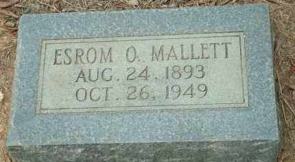 MALLETT, ESROM O. - Conway County, Arkansas | ESROM O. MALLETT - Arkansas Gravestone Photos