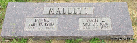 MALLETT, IRVIN L. - Conway County, Arkansas | IRVIN L. MALLETT - Arkansas Gravestone Photos