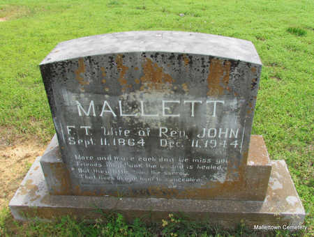 MALLETT, FRANCES THEODOCIA - Conway County, Arkansas | FRANCES THEODOCIA MALLETT - Arkansas Gravestone Photos