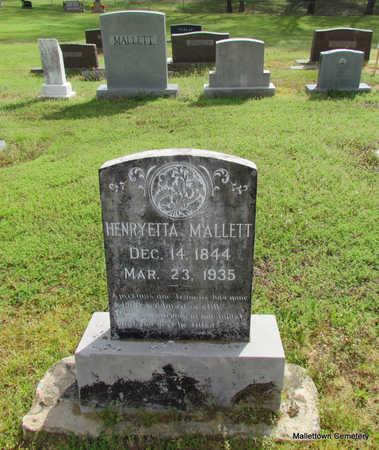 *MALLETT, HENRYETTA (LAND DONOR) - Conway County, Arkansas | HENRYETTA (LAND DONOR) *MALLETT - Arkansas Gravestone Photos