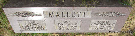 MALLETT, INFANT SON - Conway County, Arkansas | INFANT SON MALLETT - Arkansas Gravestone Photos