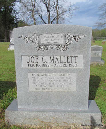 MALLETT, JOE C. - Conway County, Arkansas | JOE C. MALLETT - Arkansas Gravestone Photos