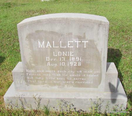 MALLETT, LONA ELIZABETH (LONIE) - Conway County, Arkansas | LONA ELIZABETH (LONIE) MALLETT - Arkansas Gravestone Photos