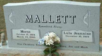 MALLETT, MORSE - Conway County, Arkansas | MORSE MALLETT - Arkansas Gravestone Photos