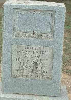 PERRY MALLETT, MARY ELIZABETH - Conway County, Arkansas | MARY ELIZABETH PERRY MALLETT - Arkansas Gravestone Photos