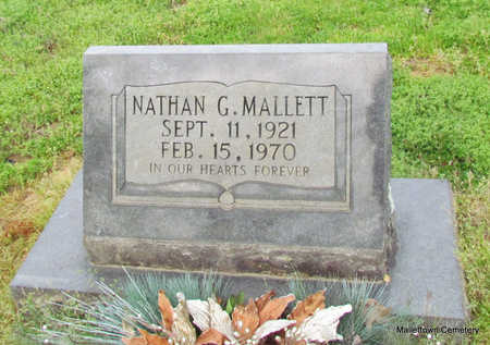 MALLETT, NATHAN GREEN - Conway County, Arkansas | NATHAN GREEN MALLETT - Arkansas Gravestone Photos